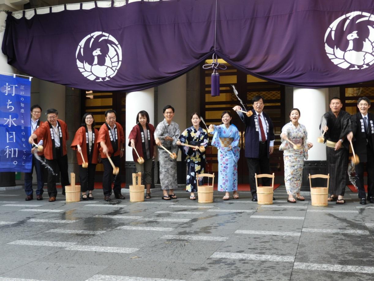 歌舞伎座でのイベントの様子