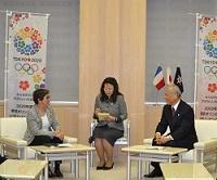 ヴァレリー・フールネロン フランス共和国スポーツ・青少年・社会教育・市民活動大臣が、知事と会談されました。