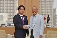 賴清德(らい・せいとく) 台南市長が、知事と会談しました。