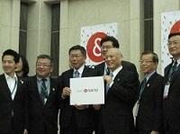 柯文哲(か・ぶんてつ)台北市長が、知事と会談されました。