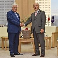 マフムード・アッバース パレスチナ大統領が、知事と会談されました。