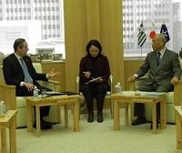 ルカス・カラツォリス 駐日ギリシャ大使が、表敬のため都庁を訪問されました。