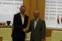 ドラジェン・フラスティッチ 駐日クロアチア共和国大使が、表敬のため都庁を訪問されました。