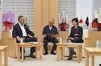 駐日ブラジル連邦共和国大使が知事を訪問されました。