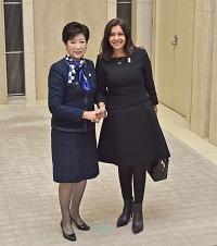 パリ市長と面会
