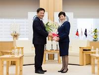 台中市長と面会